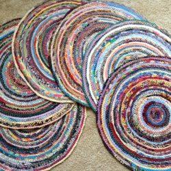 detail of sewn mats
