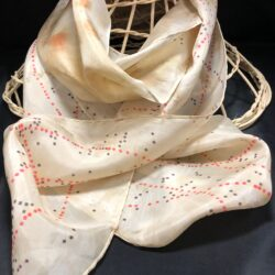 Silk scarf natural dyed